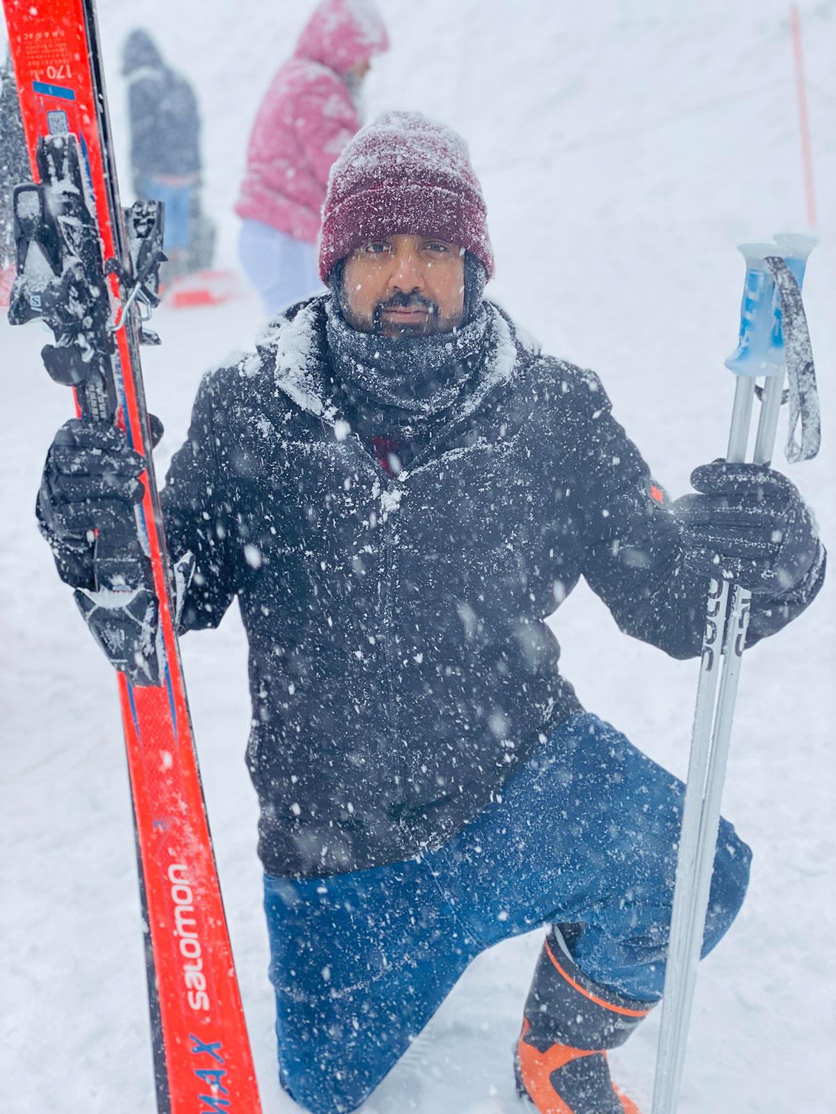 雪の降る冬が大好き。楽しかったはじめてのスキー